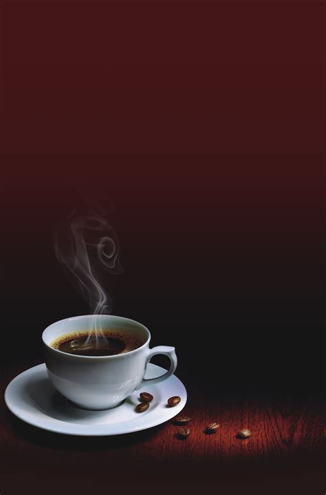 landscape coffee cup  red background landscape coffee cups background image