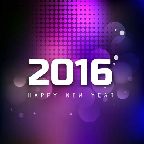shiny new year shiny new year 2016 greeting card vector free