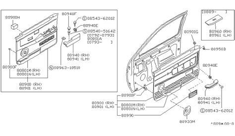 1995 nissan parts front door trimming for 1995 nissan pathfinder nissan