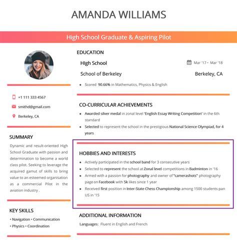 Interest For Resume