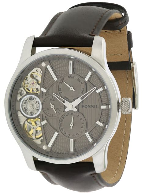 fossil me 1098 fossil twist mechanical leather mens me1098 ebay