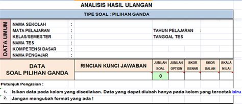 format analisis butir soal download format excel analisis butir soal mathematics