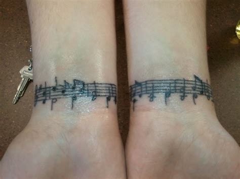 music tattoos 41 awesome notes tattoos on wrists
