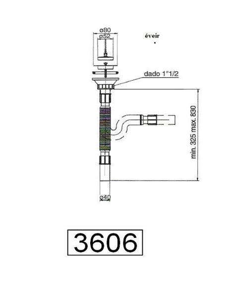 comptoir general de robinetterie siphon 201 vier avec bonde inoxydable comptoir