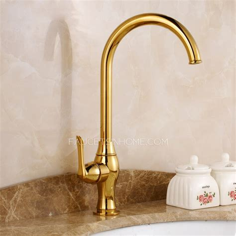 Brass Faucets Kitchen by Luxury Gold Polished Brass Kitchen Faucets One Hole