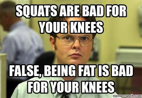Squat Meme - dwight squats