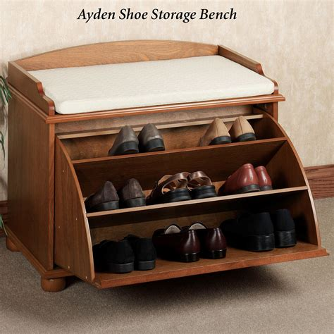 storage bench with shoe rack auston shoe storage bench