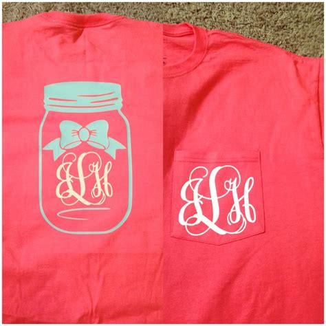 Design Vinyl Shirt | monogrammed mason jar shirt alison s vinyl designs