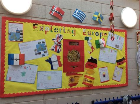 flags of the world ks2 exploring europe corridor display passport countries