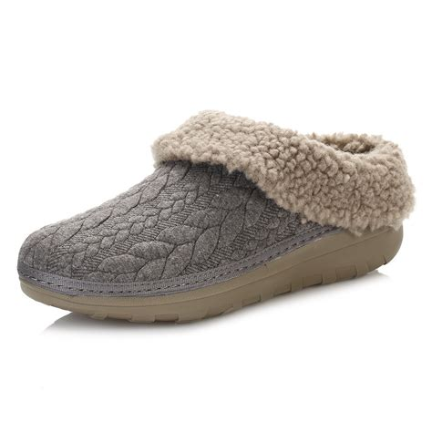 quilted slippers fitflop womens slippers charcoal grey loaff quilted