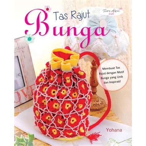 Tas Buku buku tas rajut bunga crafts