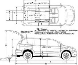 Chrysler Town And Country Cargo Dimensions Dodge Grand Caravan Commercial Wheelchair Minivan