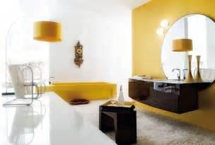 White bathroom yellow accents