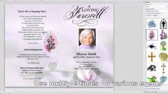 funeral booklets templates free how to customize a funeral program template