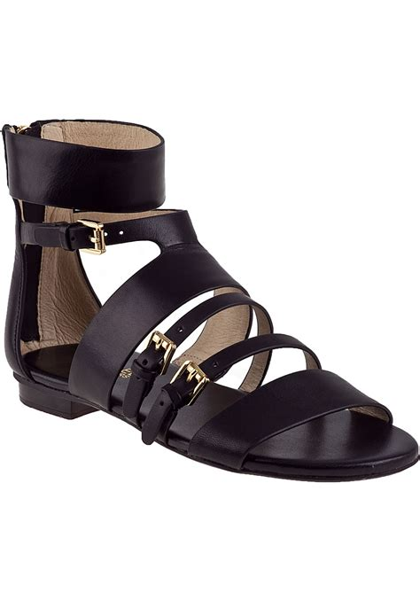black sandals michael michael kors winston gladiator sandal black