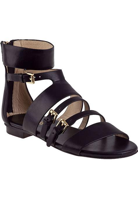 leather gladiator sandals michael michael kors winston gladiator sandal black