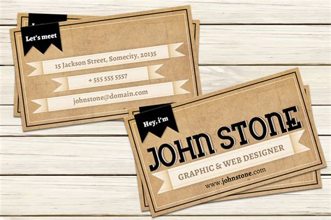 Vintage Card Templates Vintage Business Card Template Business Card Templates On Creative Market
