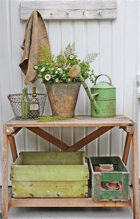 corner potting bench 1000 ideas about shades of green on pinterest accent