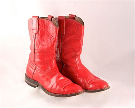 Handmade Mexican Boots - retro rocker cowboy boots 7 m s made by