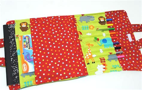 sewing pattern book holder kids coloring book and crayon carrier tutorial