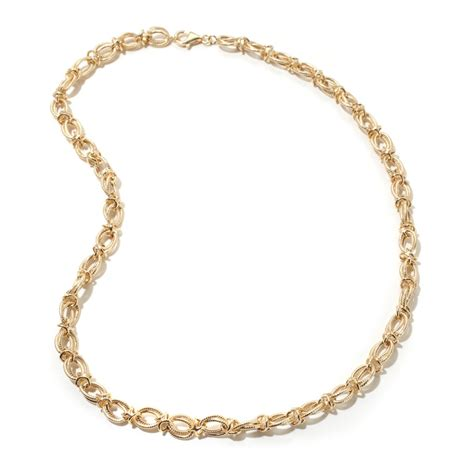 18 quot technibond cut interlocking xo necklace 14k