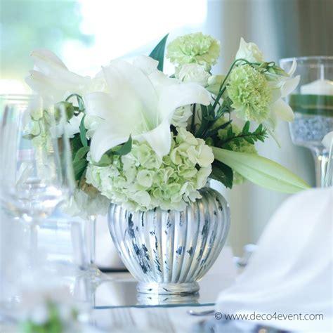 Tischgestaltung Hochzeit by Vase Gerippt D 12 X H 15 Cm Glas Silber Mieten 2 95