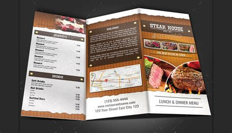 trifold menu template 16 modern menu designs design trends premium psd