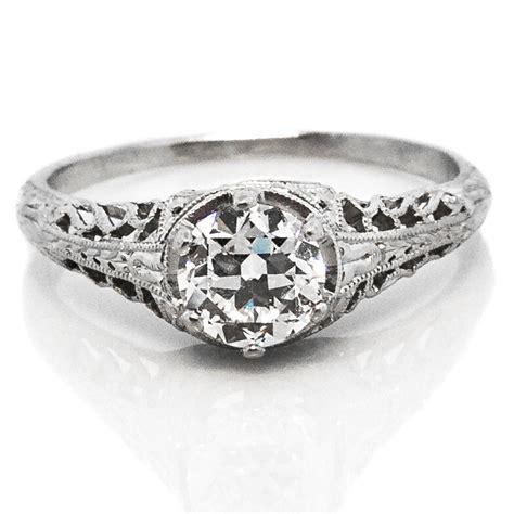 vintage filigree platinum engagement ring claude