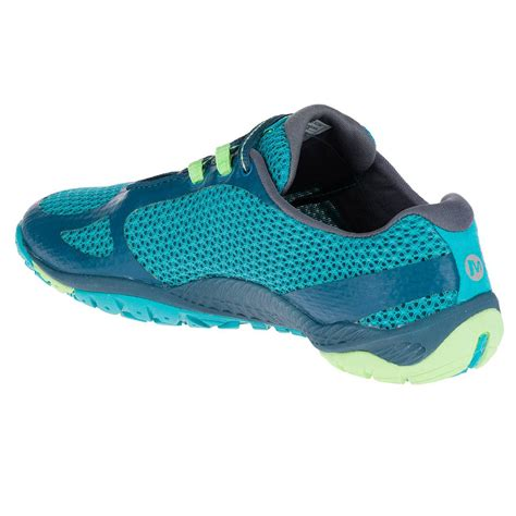 walking sports shoes merrell pace glove womens blue vibram trail walking sports