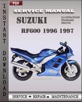 Suzuki Service Suzuki Rf600 1996 1997 Workshop Repair Manual Repair