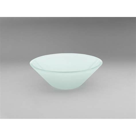 Ronbow Geometric Tempered Glass Vessel Bathroom In