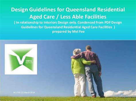 Child Care Design Guidelines Qld | design guidelines for queensland residential aged care