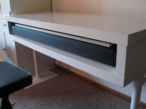 Diy Keyboard Shelf by Hacker Lack Tv Unit Turned Into Piano Stand I Ve