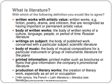 literature definition what is literature