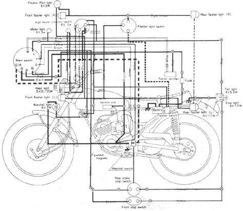 wiring diagram yamaha 100 lt2 motorcycle 61468 circuit