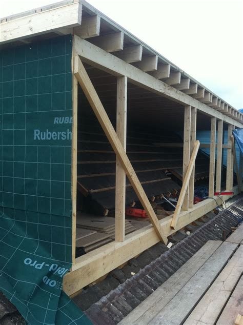 Shed Flat Conversion by Loft Conversion Flat Roof Dormer In Build 6 Attic Inspirations Flat Roof Lofts