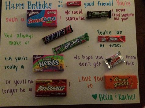 how cool is your grandmother test birthday poster with clever candy sayings pinterest