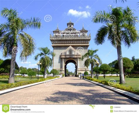 design center vientiane french style temple vientiane laos stock photo image