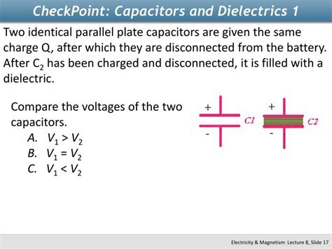 capacitor and dielectrics ppt physics 2112 unit 8 capacitors powerpoint presentation id 2265746
