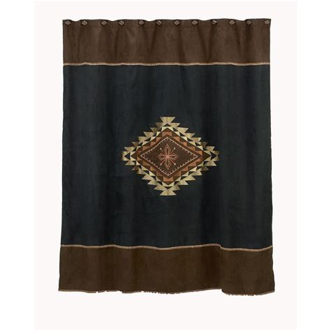 aztec shower curtain shop avanti mojave polyester aztec medallion motif