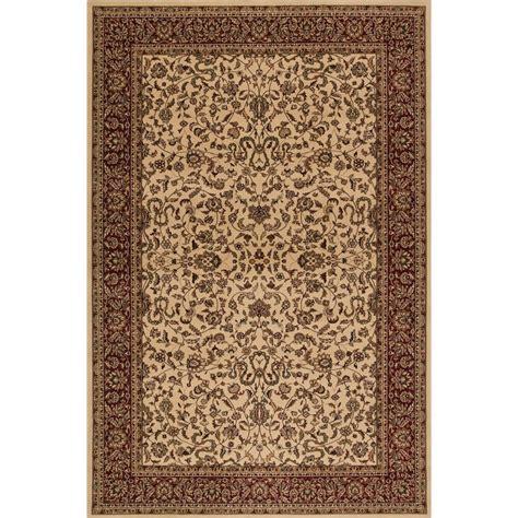 Concord Global Trading Persian Classics Kashan Ivory 5 Ft Classics Rugs