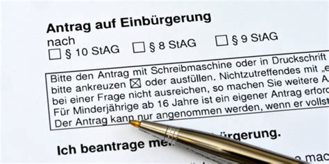 Lebenslauf Deutscher Pass einb 252 rgerung aktuelles aus recht gesetz und justiz