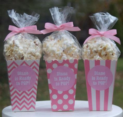 Popcorn Holders For Baby Shower by 12 Custom Popcorn Box Favors Personalized Labels Baby