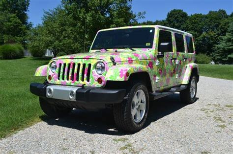 Pulitzer Jeep Buy Used Lilly Pulitzer Wrapped Jeep 2011 Wrangler