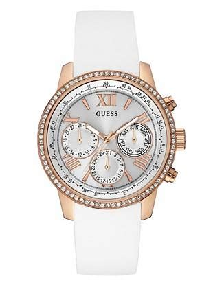 guess 20563 gold white white and gold tone feminine classic sport