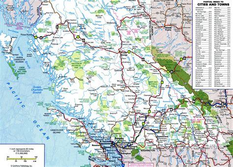 Road Map Of Bc Interior by Bc Road Map
