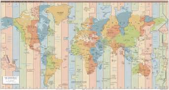 World Map Of Timezones by Large Detailed Time Zones Map Of The World 2015 Issue