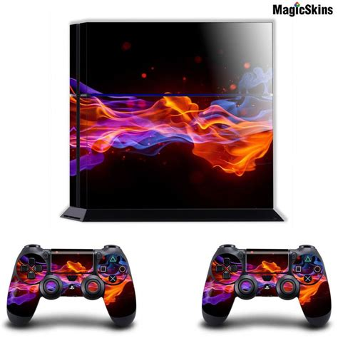 free ps4 themes reddit blue orange fire playstation ps4 console controller skins