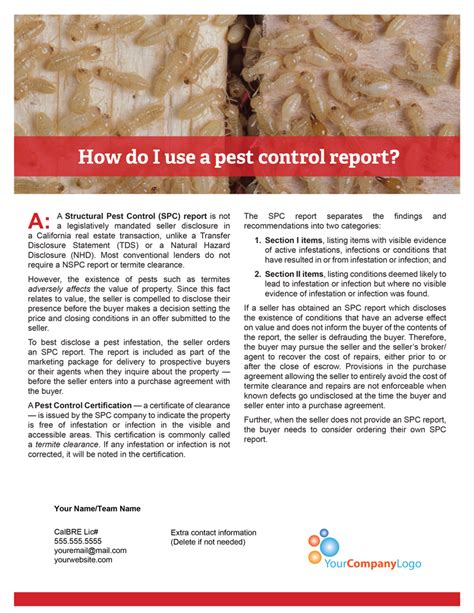 Mortgagee Letter Termite client q a how do i use a pest report tuesday journal