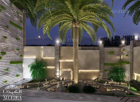 landscape  exterior design   luxury villa  dubai